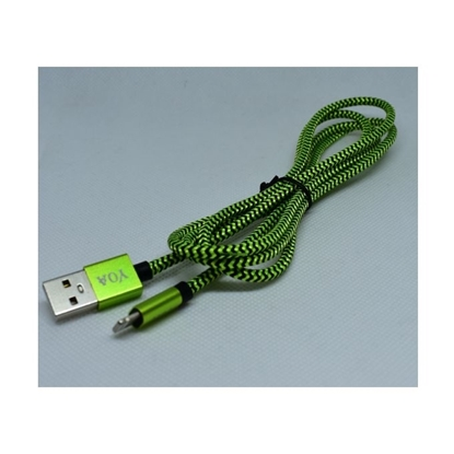 Picture of Braided iPhone-USB Data Cable - Green