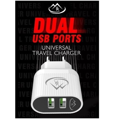 Picture of A202 - Dual USB Wall Charger – White